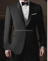 stylish design custom fit shawl lapel good quality dress coat pant photo office uniform custom black urban men suit for wedding