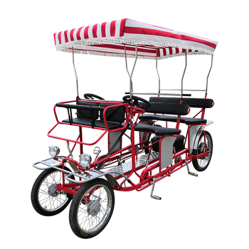 Bestselling 4 Wheeler Tandem Rental Passengers 4 Person Adult Pedal Car