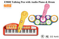 2014 OEM children talking pen with Audio learning music Piano and Drum passed CE SGS RoHs