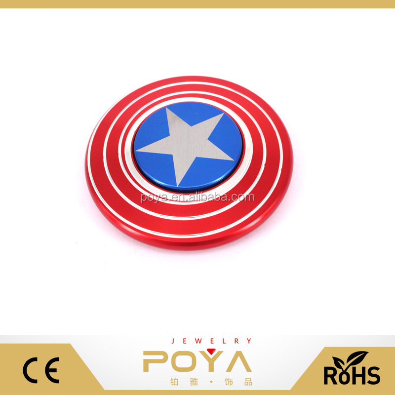 New Design Superman Series Fidget Spinner,Captain America's Shield Finger Spinner, Metal Fidget Hand Spinner For Adults Kids