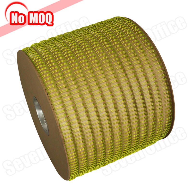 NO MOQ promotional book binding materials metal spool twin double loop wire wire-o in roll