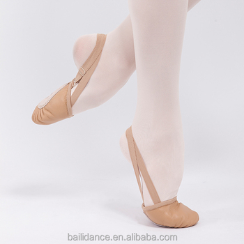D012009 Dttrol ballet dance leather half sole shoes