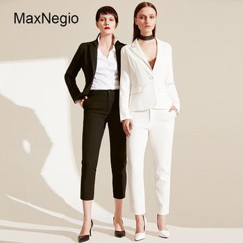 1572df029ca7 Maxnegio 2018 Última Moda Mujer Oficina Abrigo Blanco Adelgazar Trajes De  Negocios - Buy Trajes Blancos,Traje De Oficina,Trajes De Negocios ...