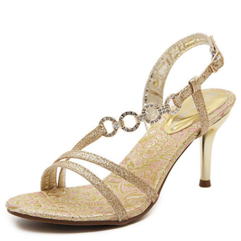 woman sandals new design crystal stiletto wedding shoes 2016