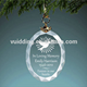 Beveled Oval Frosted Tree Ornament For Christmas Decoration