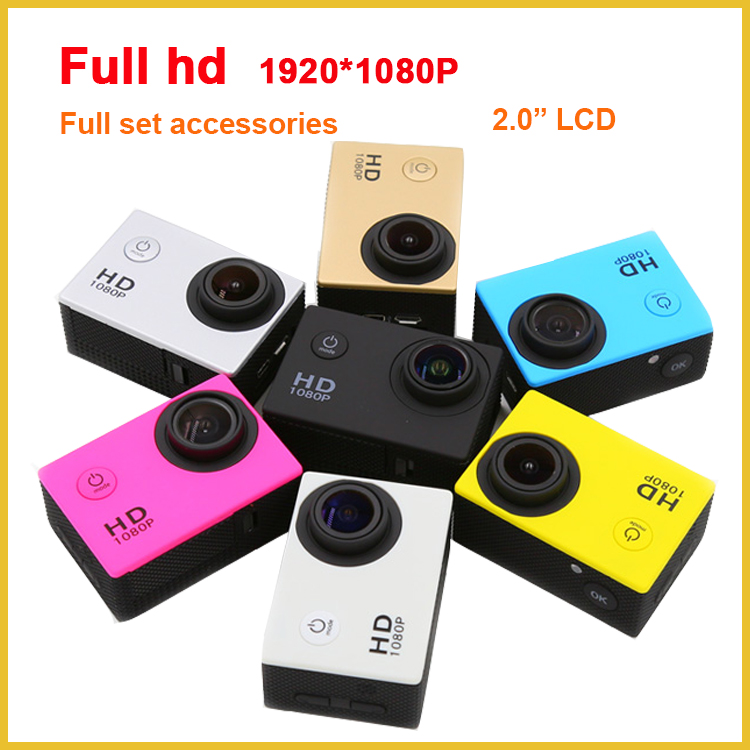 Full HD SJ4000 Action Camera 1080P Waterproof 2.0 inch LCD 12MP photo resolution hd portable dvr with go pro acessories