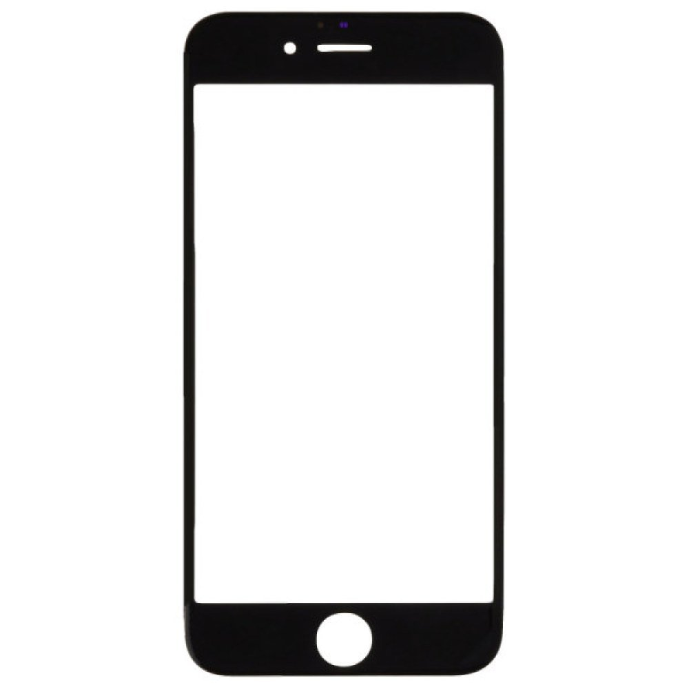 Lens for Apple iPhone 6 (Glass Only) (CDMA & GSM) (Black) with Glue Card