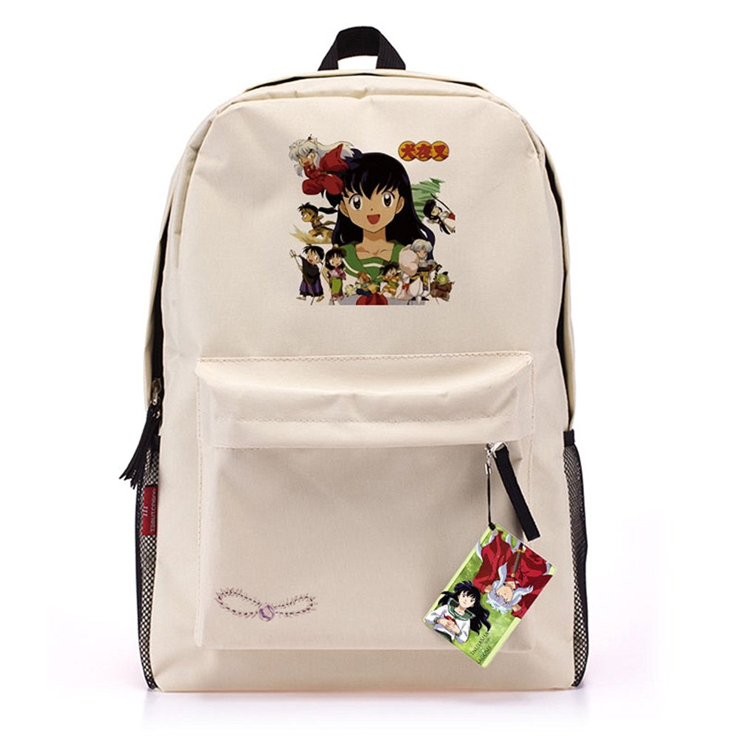 5dd5a568de Get Quotations · Boys Girls Anime Student Backpack Cartoon College  Schoolbag Leisure
