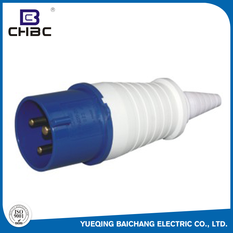 CHBC Hot Sale IP44 Waterproof 16 32 Amp 2P+E Industrial Plug And Socket