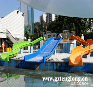 New Style! Beach / swimming pool fiberglass Water Slide for sale