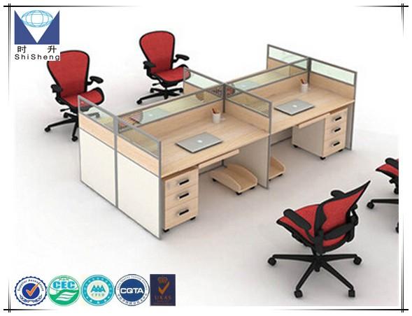 Houten Bureau Kantoor : Moderne kantoor meubels persoon houten partitie ontwerp