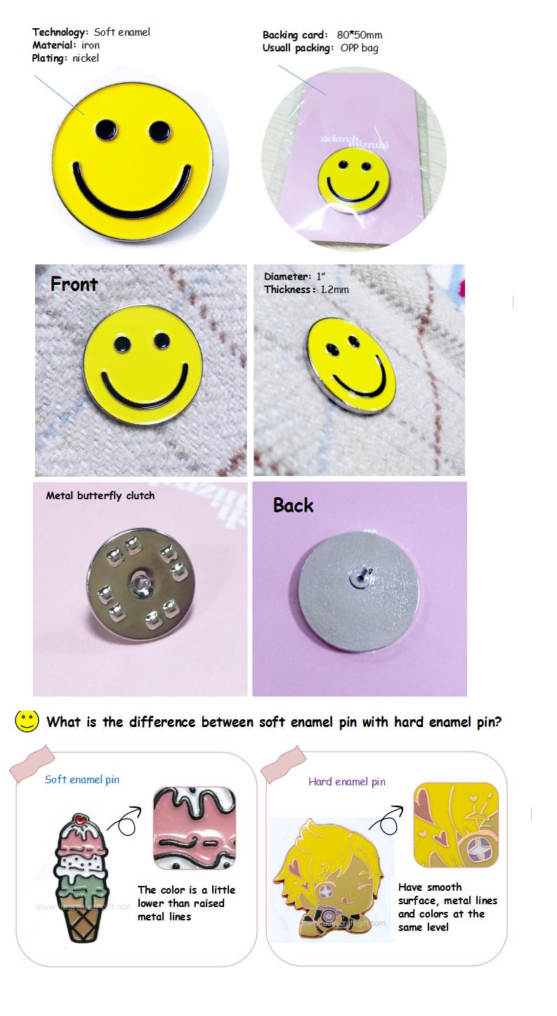 Custom manufacturers bulk soft enamel pins /Customized design cheap enamel lapel pins