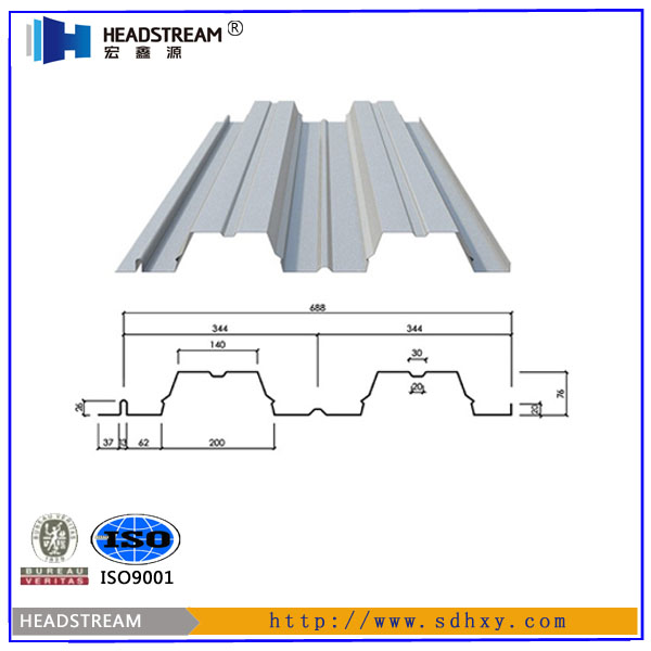 V688 floor decking/galvanized metal floor