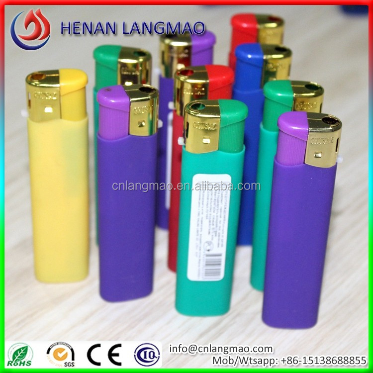 Gold plated cap new arrival bbq lighter battery