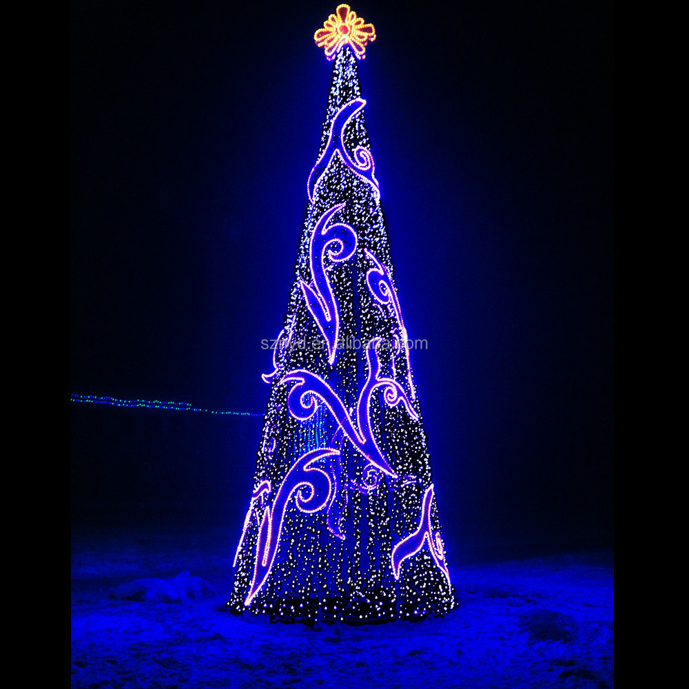 2015 giant christmas tree for outdoor decorations spectacular led light sequin landmark buy outdoor led christmas treeoutdoor metal christmas treesbig - Led Lighted Christmas Decorations