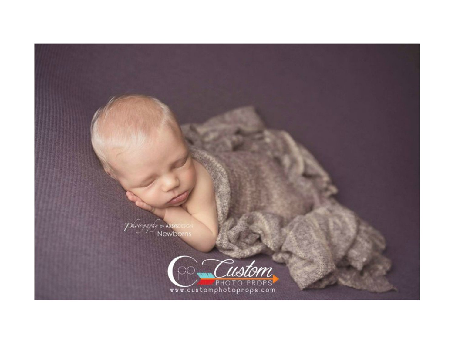 Buy Cliff Tan Fuzzy Sweater Knit Newborn Baby Wrap Photo Prop
