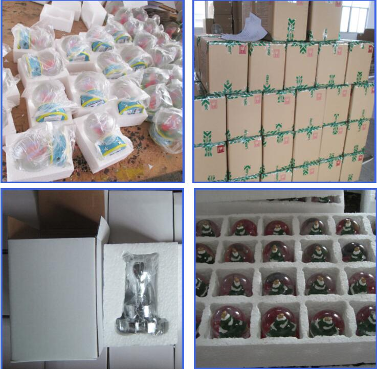 Wholesale custom cheap Christmas resin snowman snow globe xmas decoration