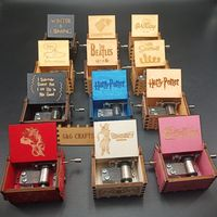 Wholesale Hand Crank Film Theme Wood Custom Mini Music Box