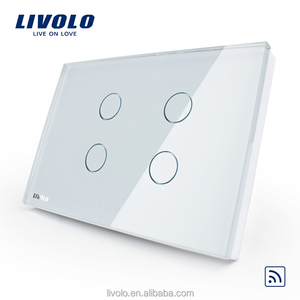 Livolo Smart Home US standard Crystal Glass Panel Touch Remote Switch Wall Light Touch Switch With LED Indicator VL-C304R-81
