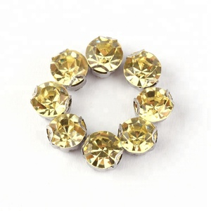 YALI Best Seller 4MM Various Color Rhinestone With D Metal Claw