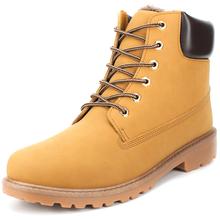 New big size leather men boots winter man shoes ankle boot men's snow shoe martin cowboy autumn man fur botas velvet flats