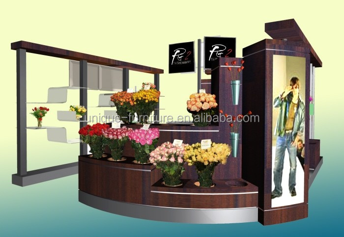 Factory Price Modern flower display kiosk design for shopping mall