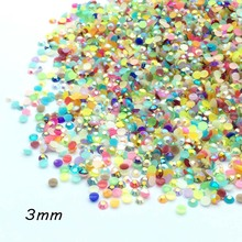 ZEROUP Crystal AB Stone Flatback Resin Cabochons Nail Art Strass Rhinestone  Jewelry Components 1000(China 7b019884d1dd
