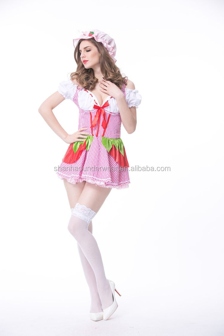 Unique style cheap sexy maid cosplay costume