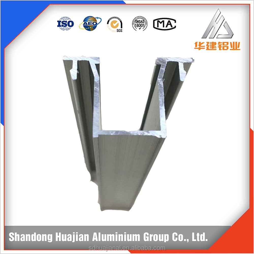 anodized matt silver extruded aluminum hollow profiles