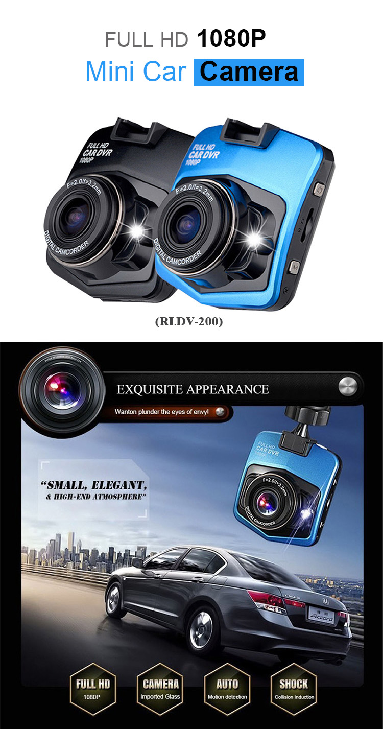 CE 2.4inch IR cut car black box dual camera car dvr