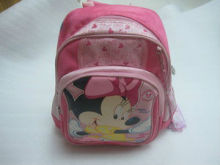 2013 venta caliente hongkong disney minnie mouse cartoon pink mochila tergal/school bag