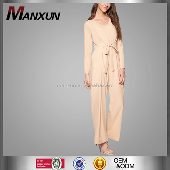 54d6fa97f793 Casual one piece style muslim women jumpsuit loose pants ladies rompers