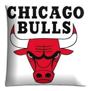 "18x18 18""x18"" 45x45cm floor pillow shell cases Polyester Cotton pillowcases MACHINE WASHABLE Chicago Bulls NBA Basketball logo"