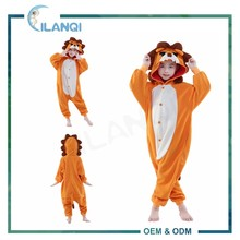ALQ-C029 Winter cosplay lion animal hooded costume pajama onesie