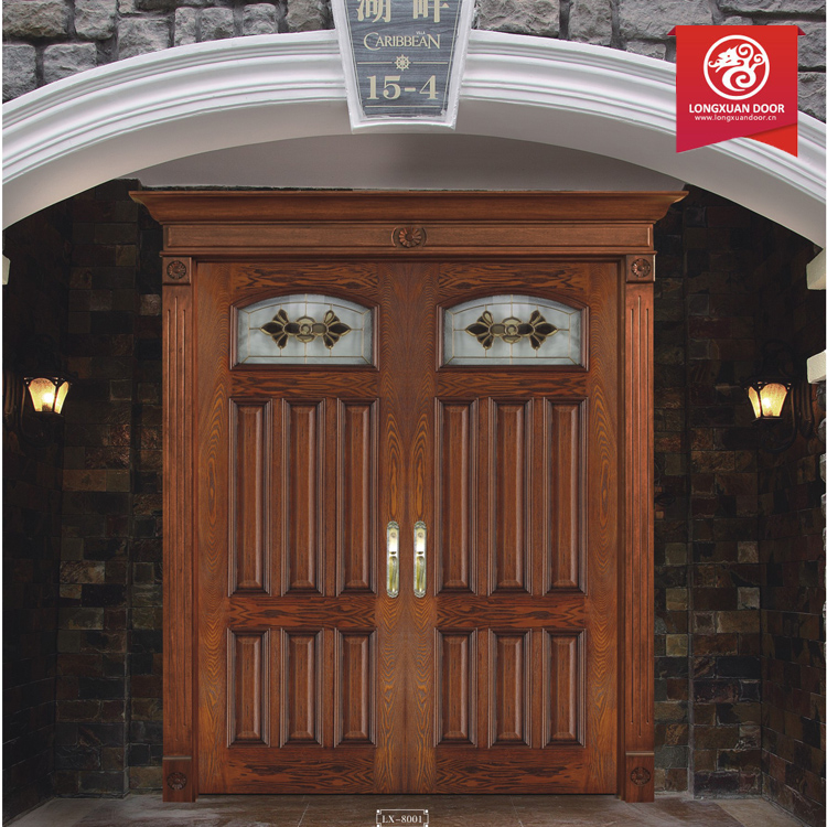 Modern Double Exterior Door Wrought Iron Front Door Wooo Door Design Catalogue
