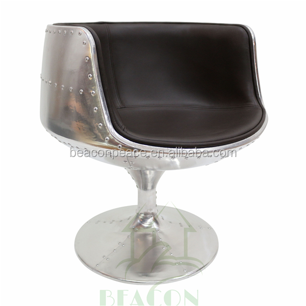Modern High Quality Fiberglass wine Cup Chair with Aluminum uphostery