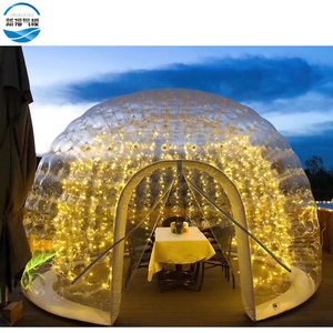 Wonderful design giant inflatable bubble tent, LED light air tight dome tent for event