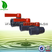high quality plastic octagonal pvc ball valve with long handles