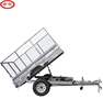 China manufacture high quality single axle cage galvanized trailer car trailer