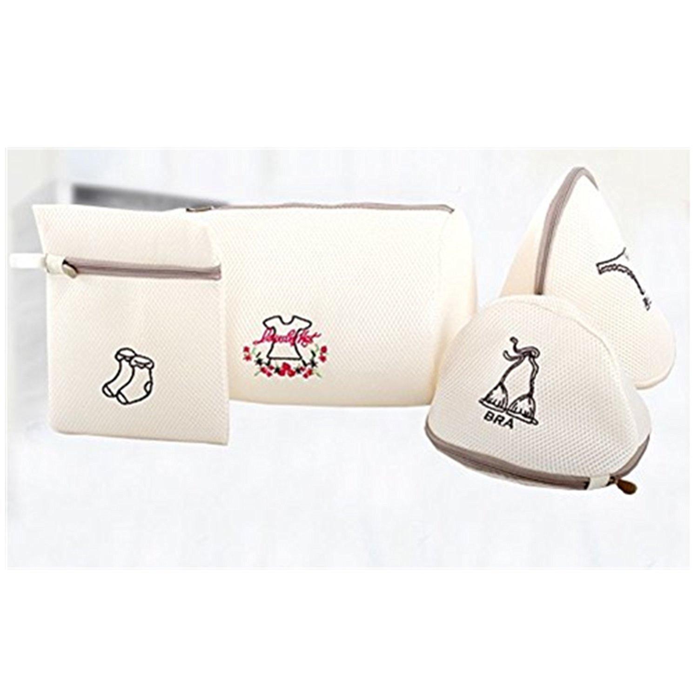 3 pc Mesh Laundry Bra Wash Bags for Lingerie Bras Underwear Stocking Luxury