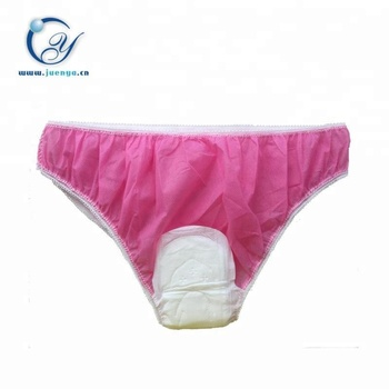 527bf6c60315 Hot Sell Women's Non Woven Disposable Underwear With Sanitary Pads ...