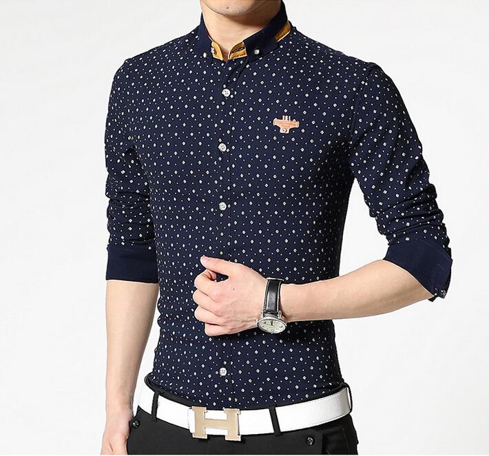 0e4caa86a704 Buy Fashion Men Shirt 2015 Polka Dot Shirt Men Shirt Long Sleeve Slim Fit  Camisa Social Masculina Famous Brand White Mens Shirt in Cheap Price on  m.alibaba. ...