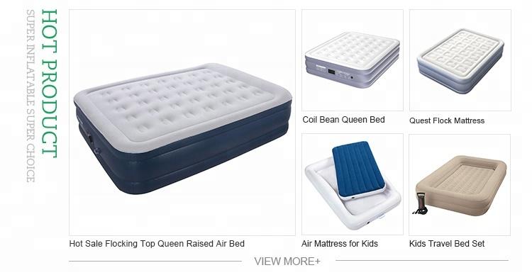 Kwaliteit Premium Luxe Slaapkamer Meubilair Comfort Top Flock Verhoogde King Size Kingsize Opblaasbare Air Matras Voor Verkoop