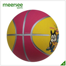 Meersee factory directly sales size 5 natural rubber sports goods basketball