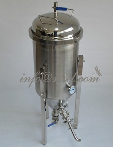 RL30L/7Gallon Stainless Conical Beer Fermenter with all accessories,Wooden Case Protected, Micro Brew, Homebrew