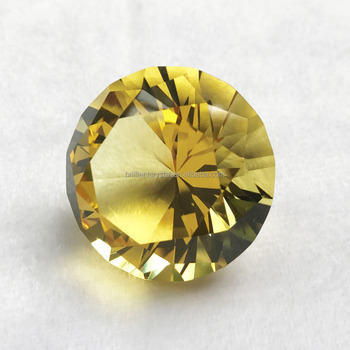 Yellow 80mm crystal k9 machine cut diamond wedding gift souvenir