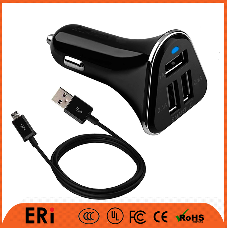 Rapid battery charging 3.1A for laptop oem quality led light up car charger