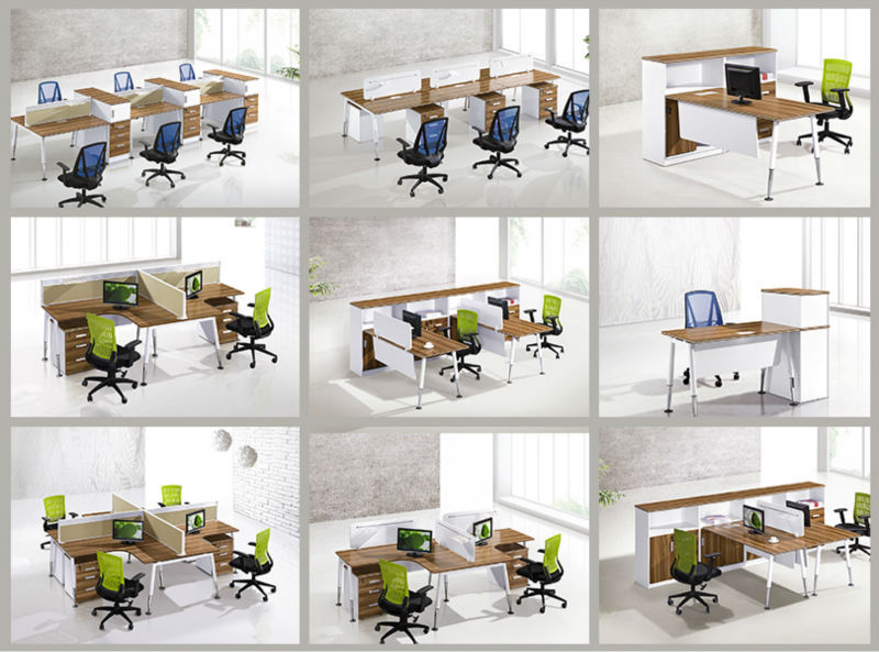 dual workstation office-furniture desk, double face to face office