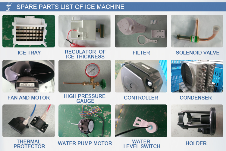 Safe Stainless Steel Slice Ice Maker