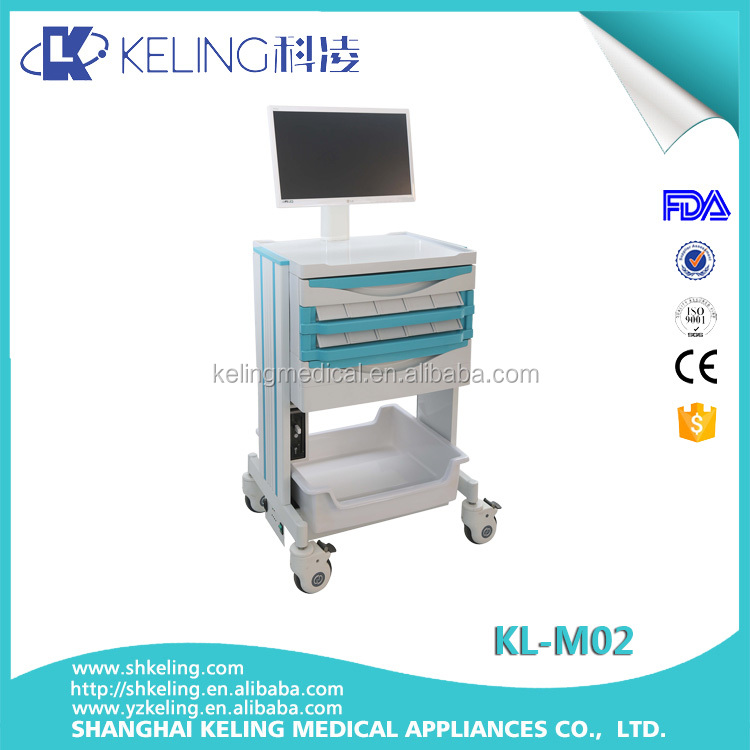 Best trading products hospital emergency medical trolley with transparent soft plastic glass